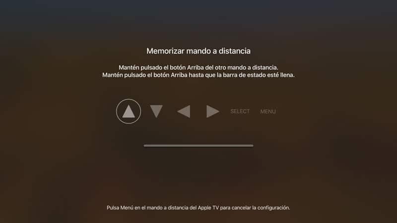 configurar un control remoto con el Apple TV si has perdido el mando original