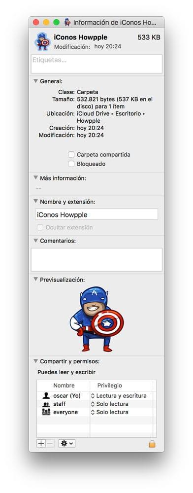 Cómo cambiar el icono de una carpeta en Mac nuevo icono