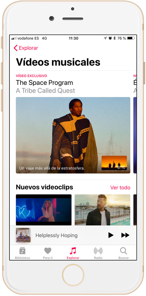 ver videos musicales en Apple Music