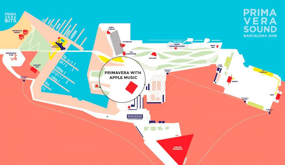 Escenario de Apple Music en el Primavera Sound 2018