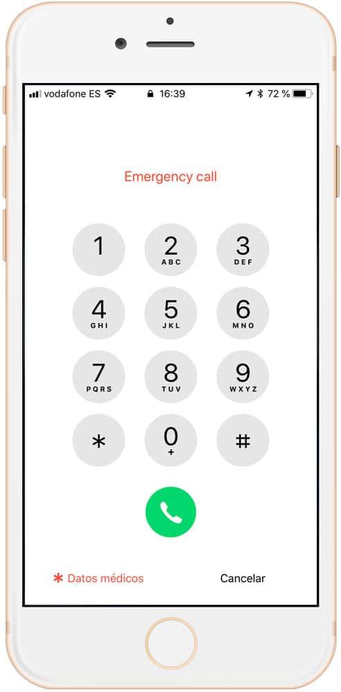 Acceso a datos de emergencia