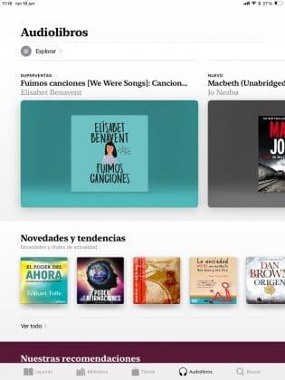 Store de Audiolibros de Apple Books