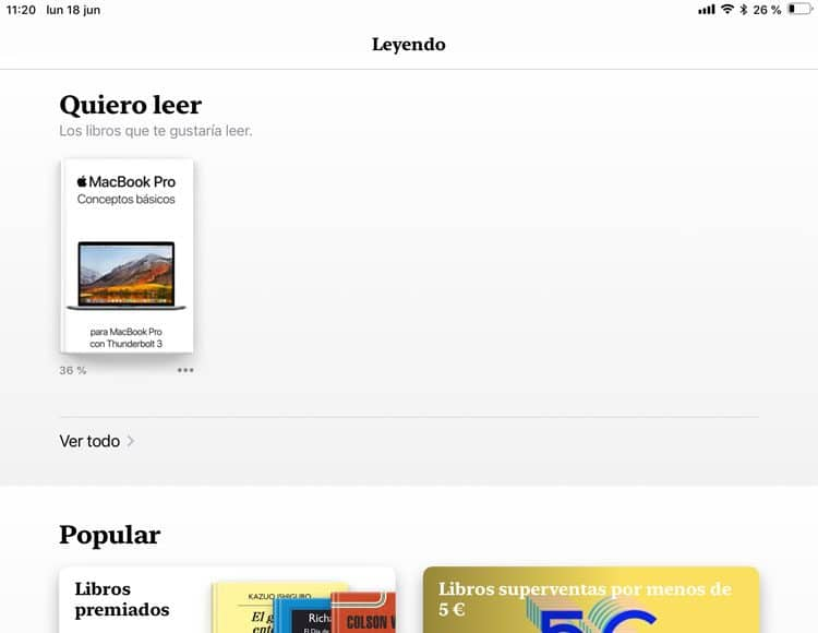 Recomendaciones en Apple Books