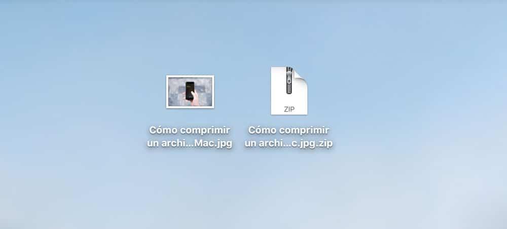 Cómo comprimir un archivo en Mac archivo comprimido y original
