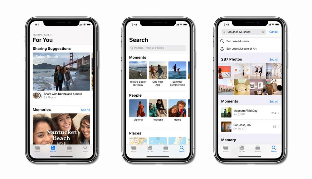 Novedades en Fotos de iOS 12