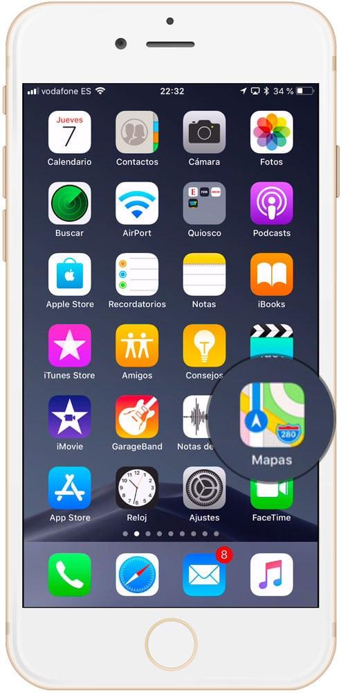 Aplicación Mapas en iOS
