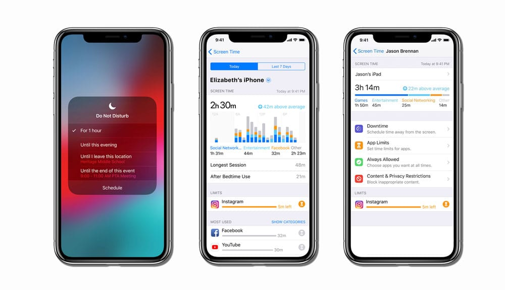 Nuevos Modo No Molestar, Screen Time y Control Parental de iOS 12