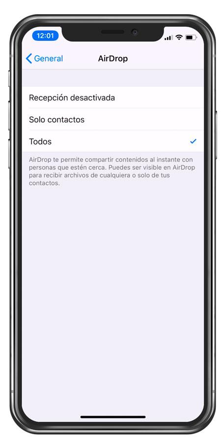 Tipos de conexión de AirDrop AirDrop para compartir fotos en iPhone