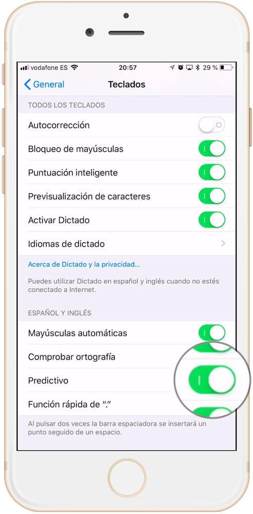 Aprende como usar el texto productivo iOS