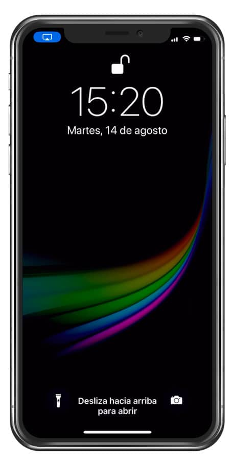 Pantalla bloqueada iPhone X