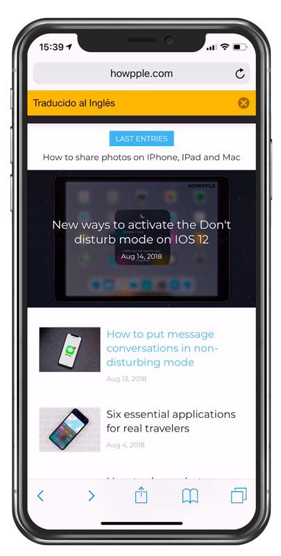 aplicación para traducir web desde el propio iPhone o iPad
