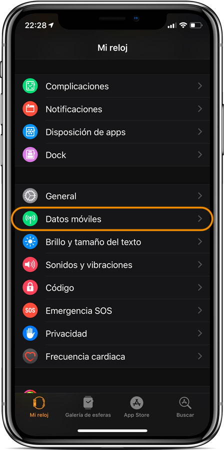 Cómo Activar datos móviles del Apple Watch Series 4