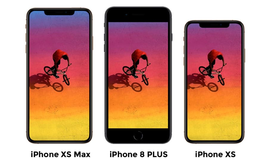 Comparación Pantalla iPhone XS Max Vs iPhone 8 PLUS