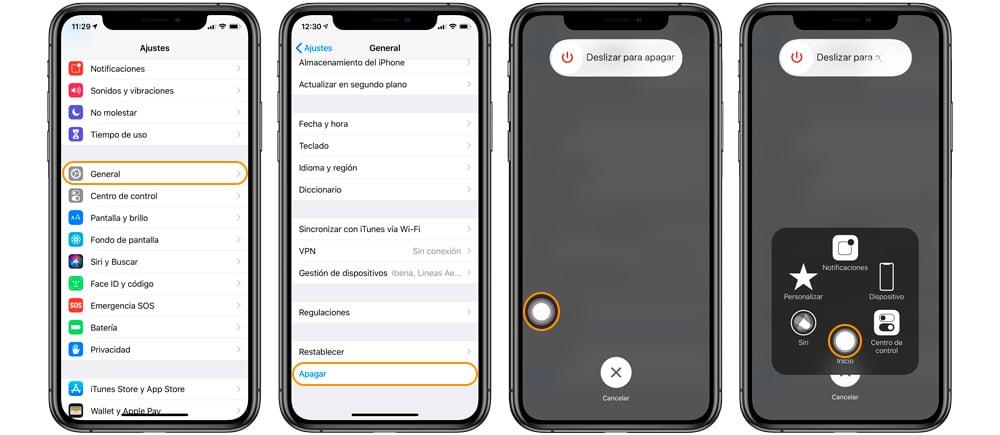 resetear la RAM del iPhone X, iPhone XS y iPhone XR