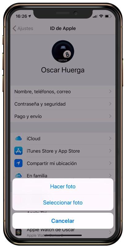 Cómo personalizarel perfil de iCloud desdeiPhone