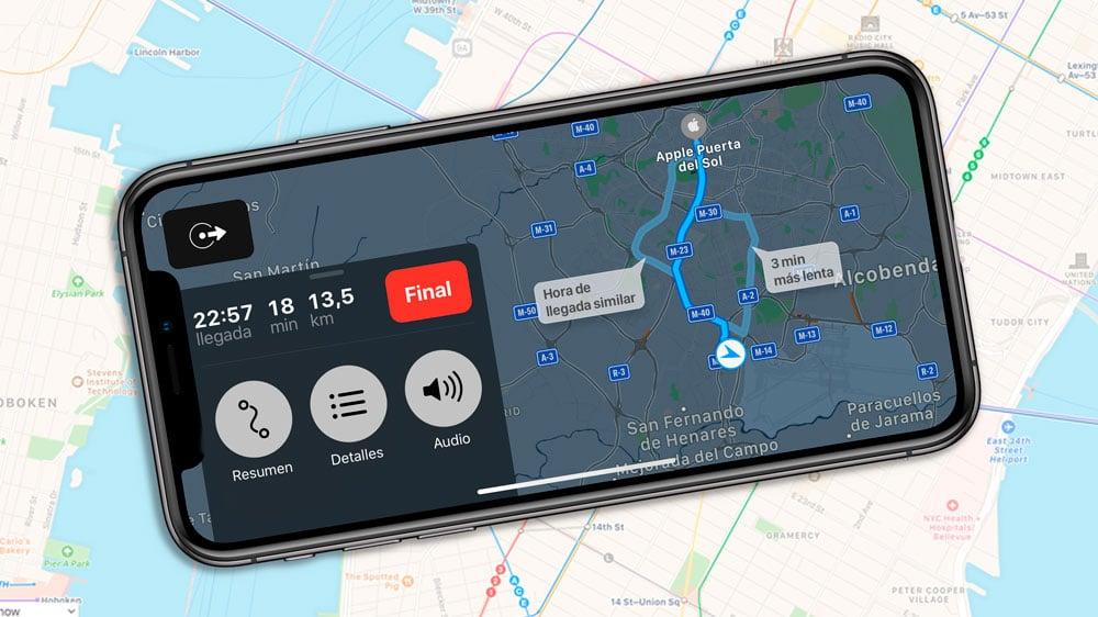 Guia para ver rutas alternativas de Mapas en iPhone y iPad