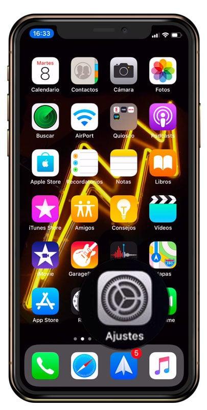 Ajustes de iOS