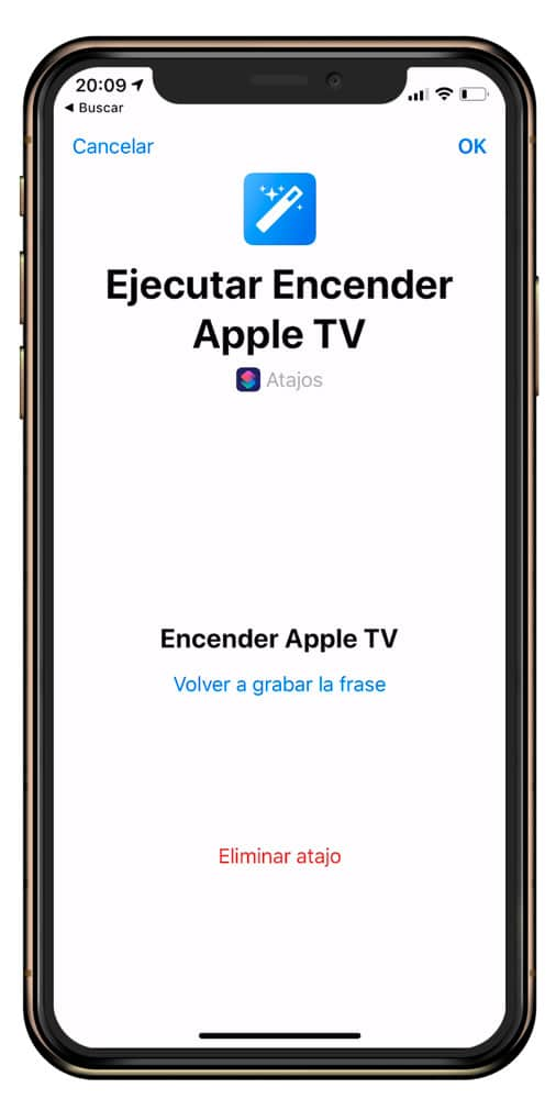 Frase para activar el Apple TV con Siri