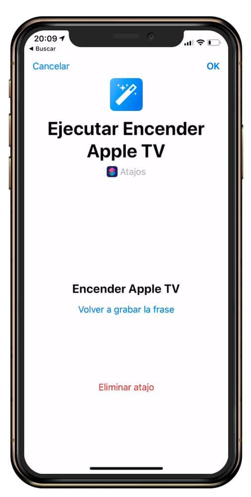 Frase para activar el Apple TV con Siri
