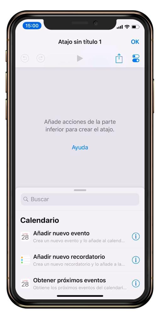 Crear atajo para iOS