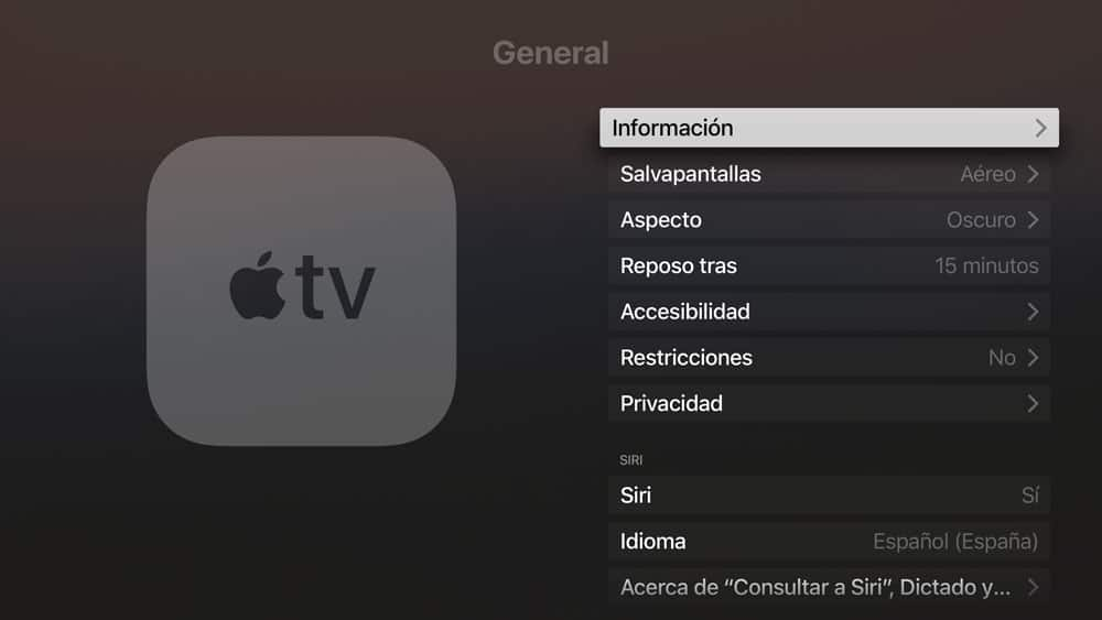 encender Apple TV con siri