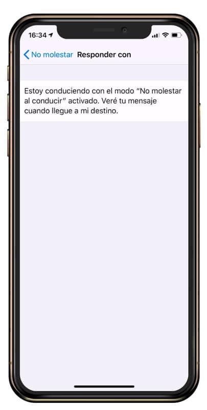 Cómo personalizar el Mensaje del modo no molestar en iOS
