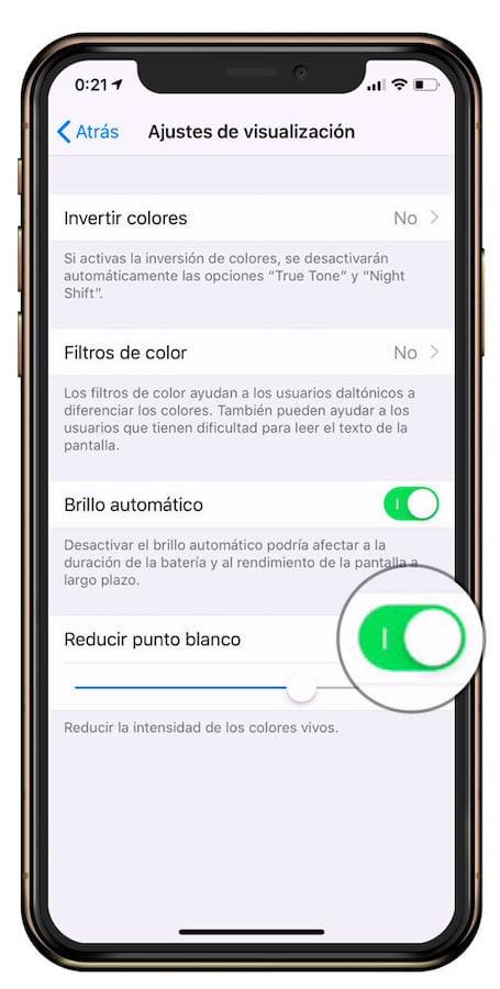 Cómo reducir el brillo del iPhone por debajo del minimo