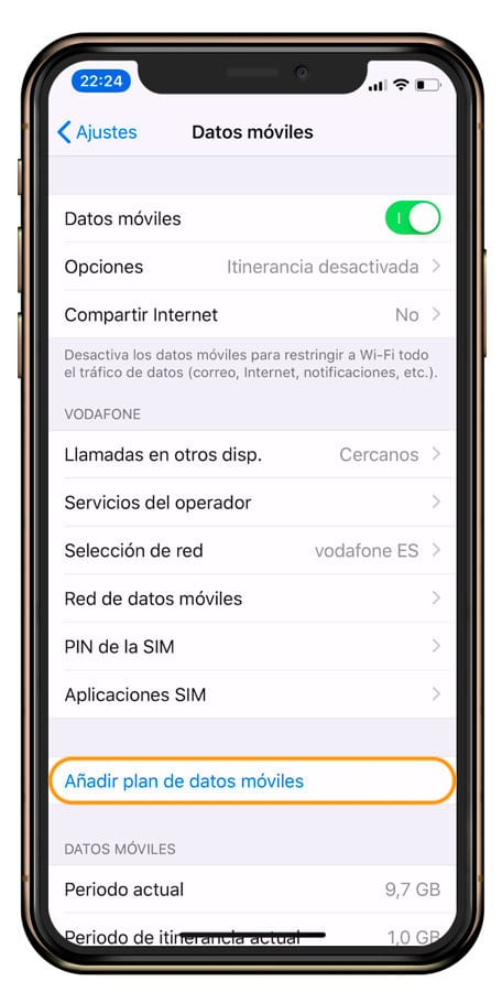 plan de datos moviles al iPhone