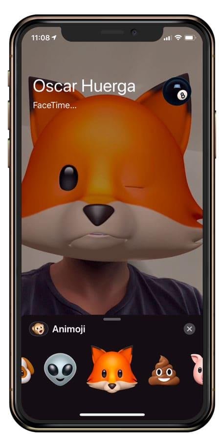 Emoji en llamada de FaceTime