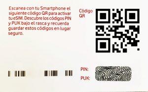 Código QR de eSIM iPhone