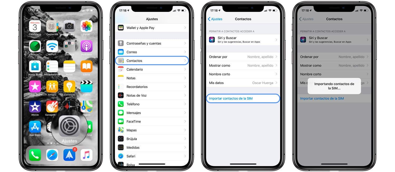 Cómo importar contactos de la SIM al iPhone