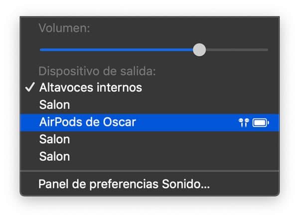 Cambiar calidad de Audio en Mac a Nuevos AirPods