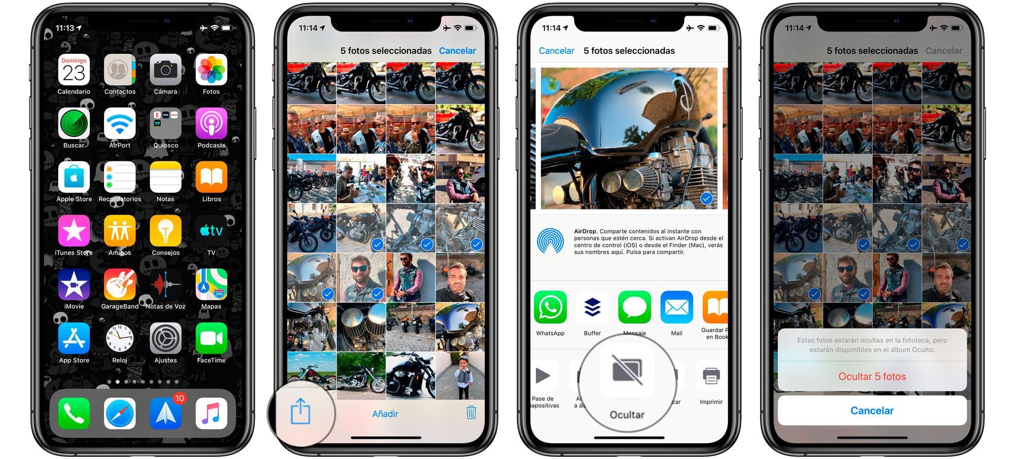 Aprende Cómo ocultar fotos en iPhone o iPad