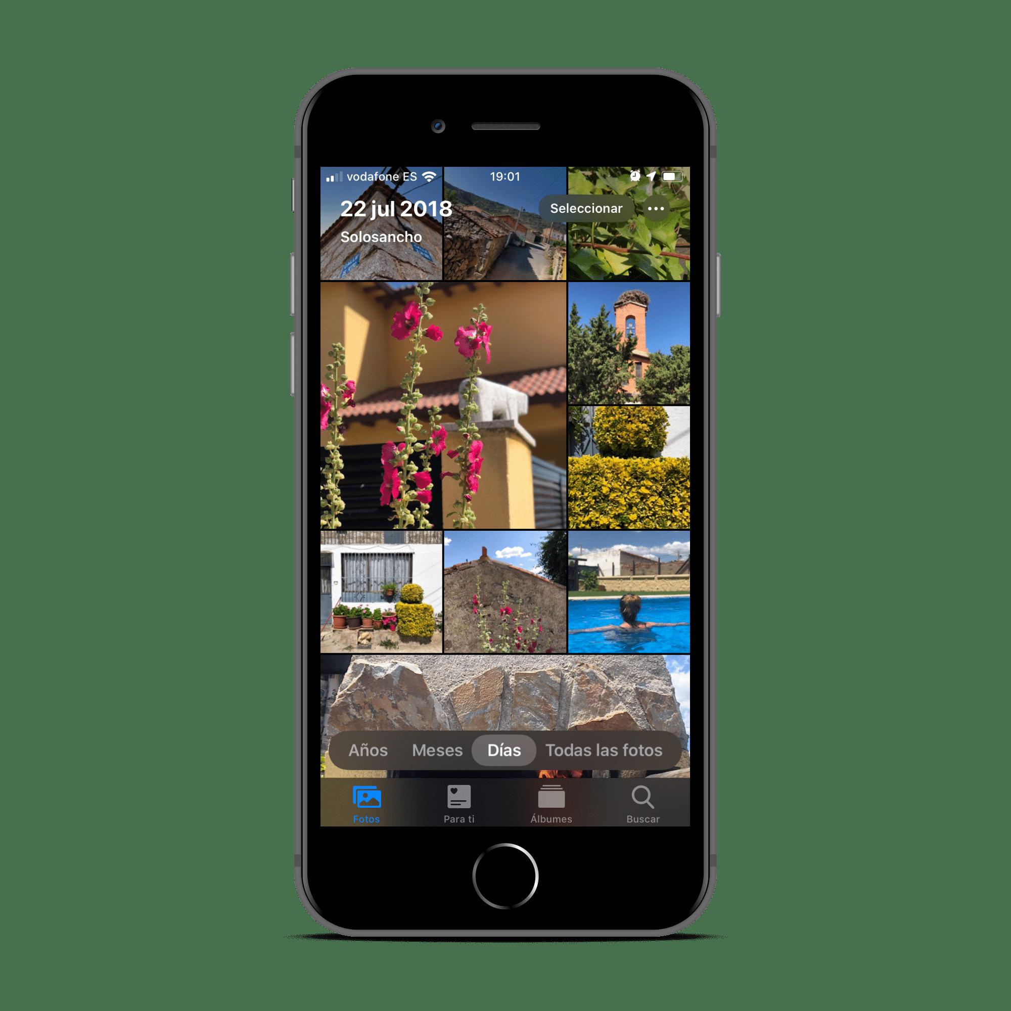 Fotos en la beta de iOS 13
