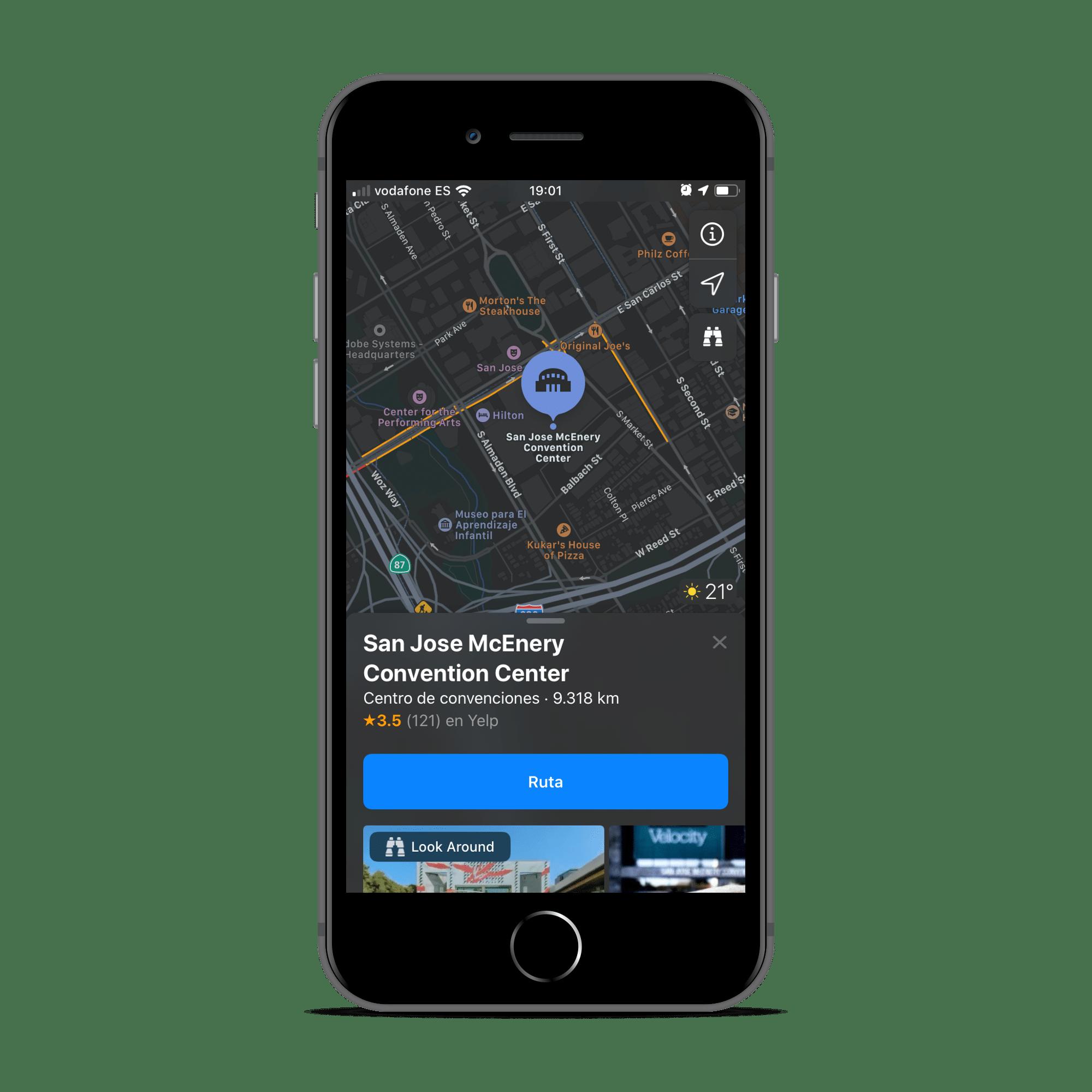 Nuevos mapas en la beta de iOS 13