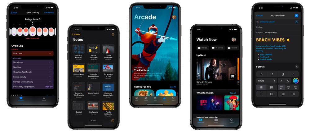 Modo oscuro de iOS 13