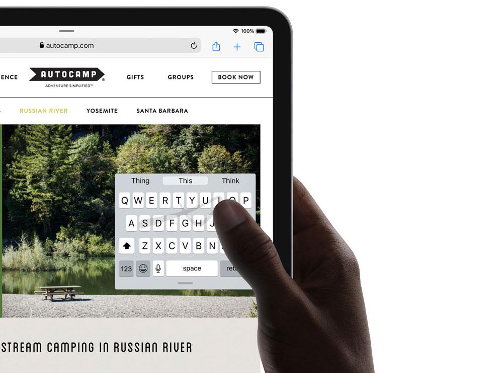 Teclado flotante en iPadOS