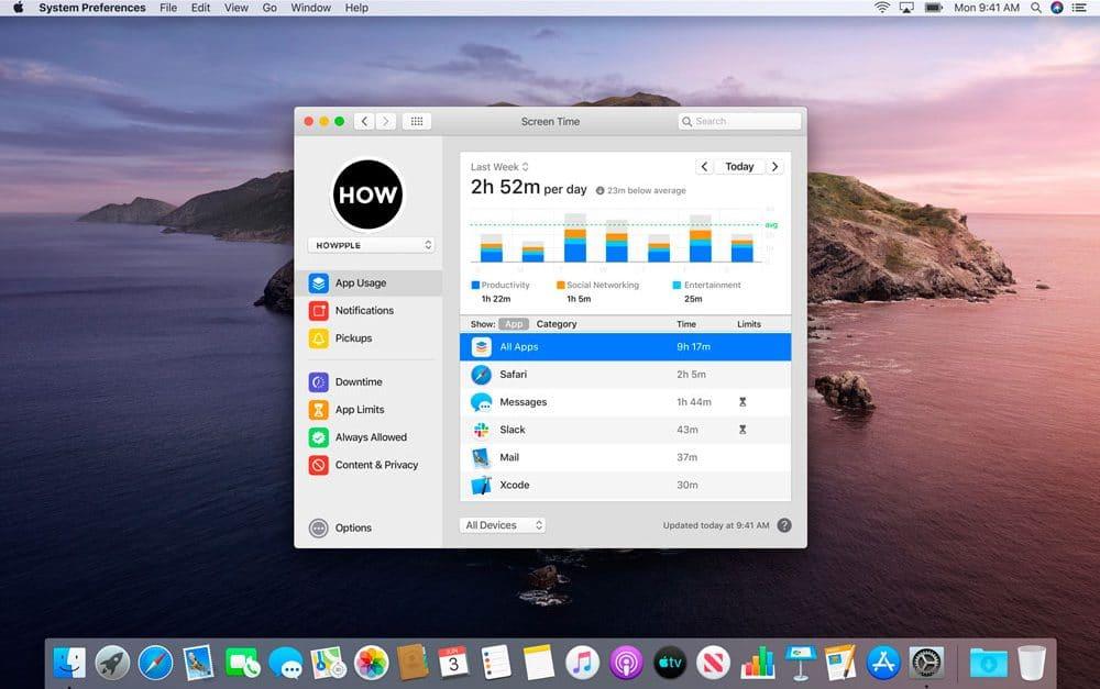 Tiempo de Uso en macOS