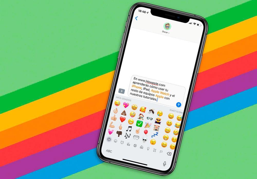 Cómo convertir el texto de mensajes en emoji con un solo click