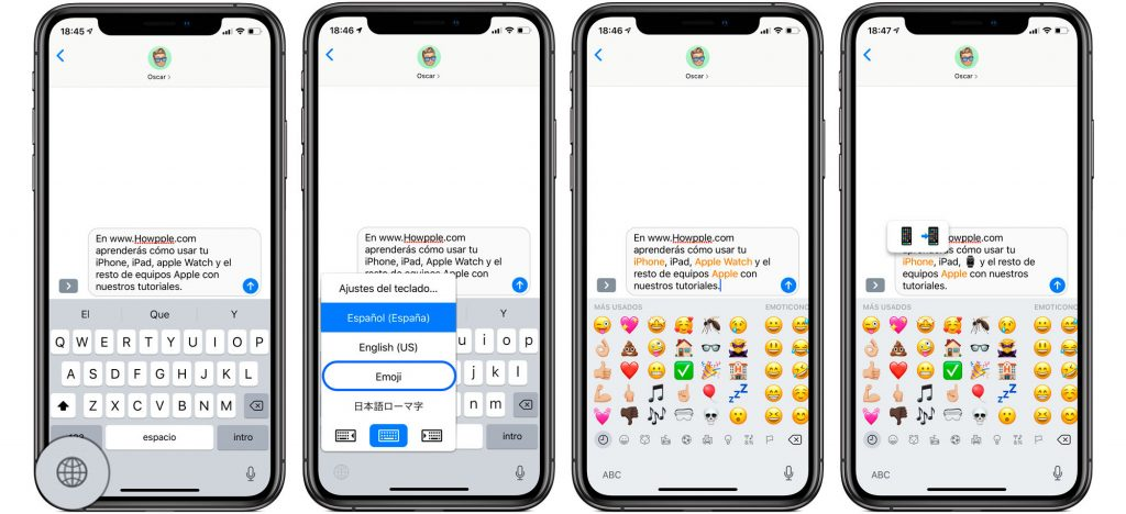 Cómo convertir el texto a emoji en mensajes de Apple