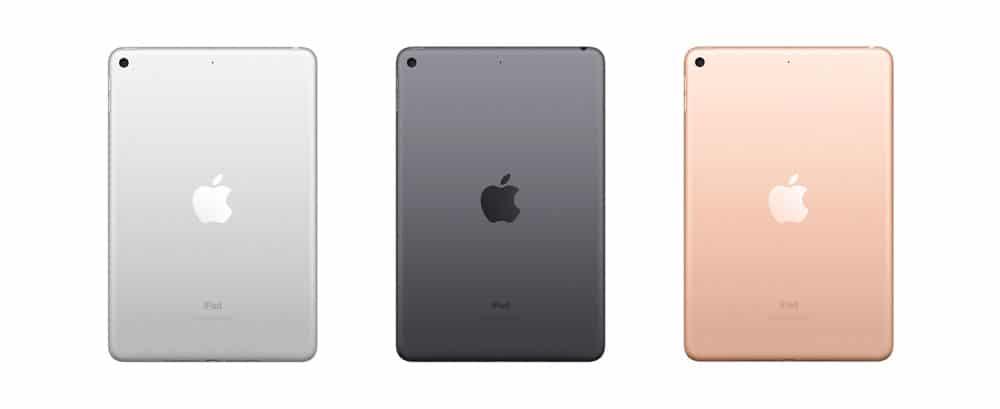 Colores disponibles para el nuevo iPad mini 5