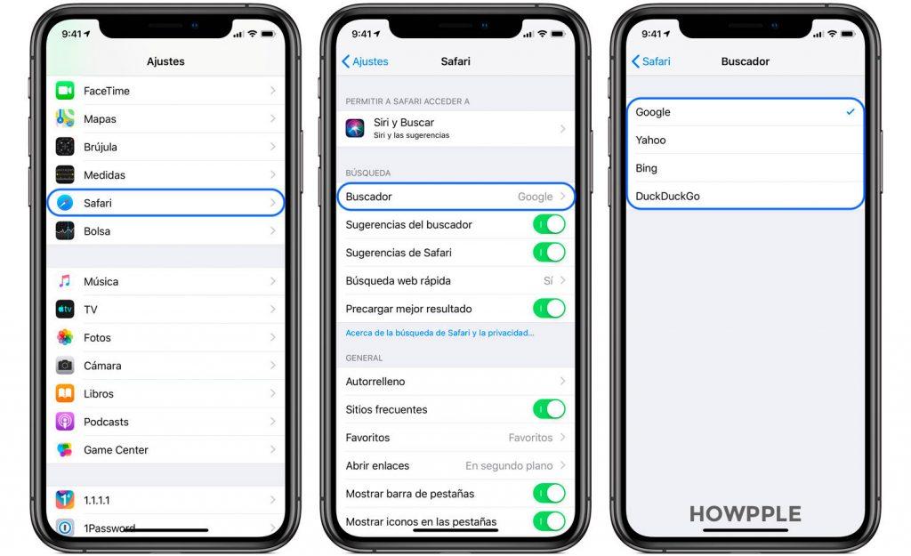Cambiar el buscador de safari en iPhone y iPad