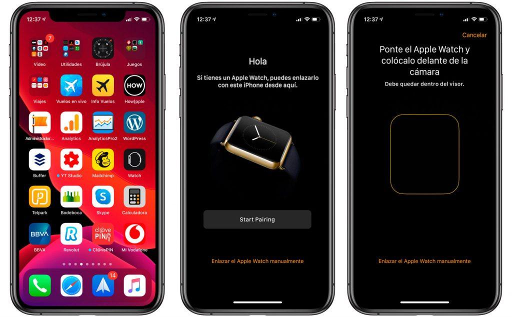 Enlazar Apple Watch con iPhone