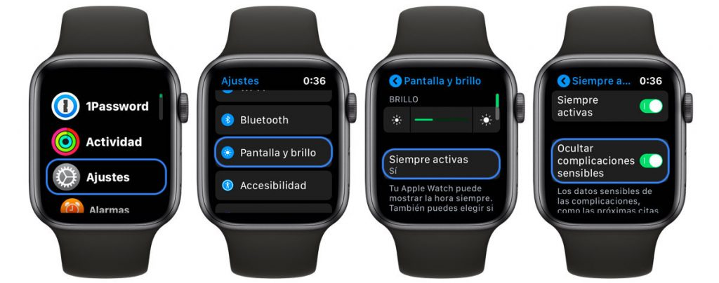 proteger notificaciones sensibles en Apple Watch