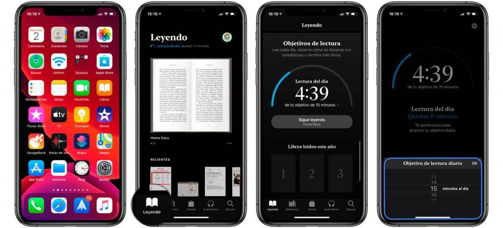 Aprende cómo establecer objetivos de lectura en Libros de Apple.