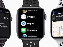 indicaciones en mapas del Apple Watch solo para rutas a pie