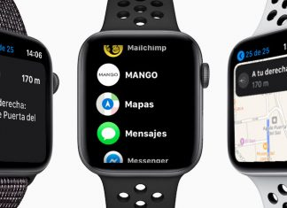 indicaciones en mapas del Apple Watch solo para rutas a pie