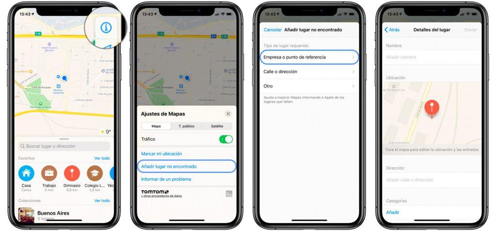 Pasos para añadir un negocio a los mapas de Apple desde el iPhone o iPad