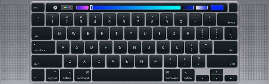 Teclado del nuevo MacBook Pro 16