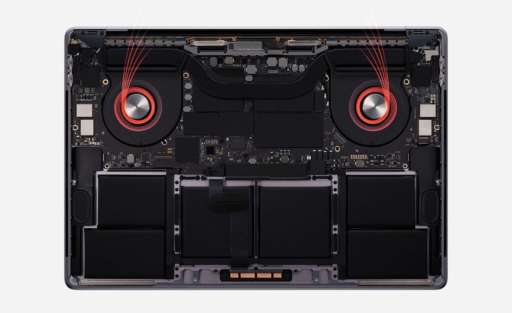 Ventiladores del nuevo MacBook Pro 16